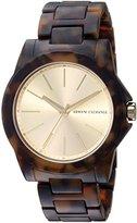 Armani Exchange Women's AX4344 Tortoise Watch