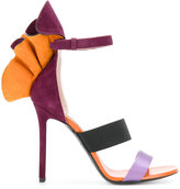 Emilio Pucci ruffled ankle strap sandals