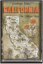 Bed Bath & Beyond California Greetings Postcard on Box Wall Art