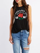 Charlotte Russe Beautiful Day Graphic Tank Top