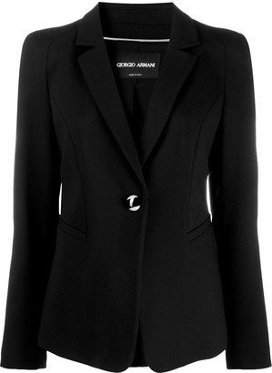Giorgio Armani Long-Sleeved Slit Pockets Blazer