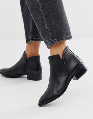 Aldo Black Leather Kaicien Low Rise Boot