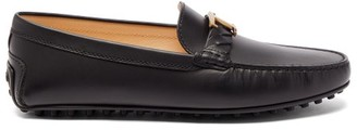Tod's Gommino T-bar Leather Loafers - Black