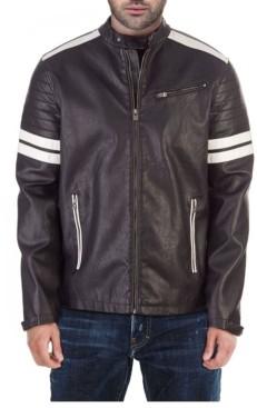 X-Ray Moto Jacket with White Stripe