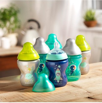Tommee Tippee 6 Piece 260ml Closer to Nature Decorated Bottles