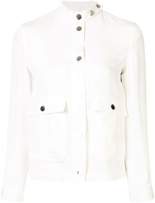 Kiton Stand Collar Silk Jacket