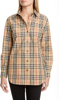 Burberry Guan Check Cotton Shirt