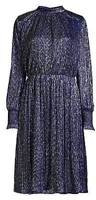 Sachin + Babi Women's Catherine High-Neck Metallic Dress