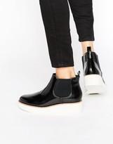 Monki Patent Color Block Flatform Boot