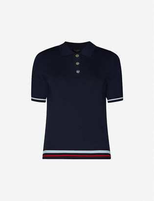 Ted Baker Slim-fit knitted polo shirt