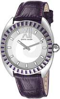 Pierre Cardin Levant Fantaisie Women's Quartz Watch with Silver Dial Analogue Display and Purple Leather Strap PC106052F03