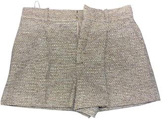 Chloé Gold Wool Shorts for Women