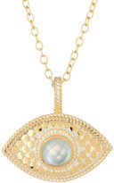 Anna Beck 18K Gold Plated Sterling Silver Aquamarine Third Eye Necklace