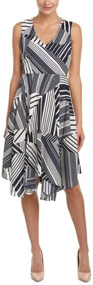 Julia Jordan Women's V Neck Slvless Fitflare Stripe