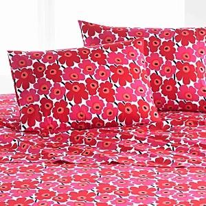 Marimekko Mini Unikko Sheet Set, Queen