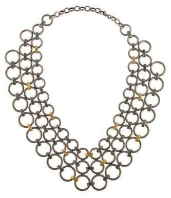 Gurhan Hoopla Chain Mail Bib Necklace
