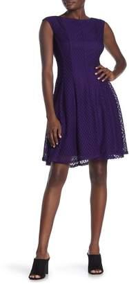 Gabby Skye Sleeveless Lace Knee-Length Dress (Regular & Plus Size)