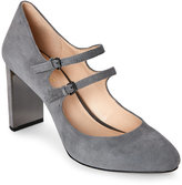 Nine West Grey Academy Metallic-Accent Mary Jane Pumps