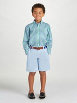 Oscar de la Renta Check Cotton Long Sleeve Dress Shirt