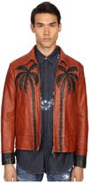 DSQUARED2 Palms Patch Leather Bomber