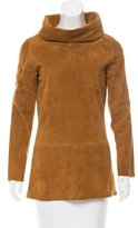 Jean Paul Gaultier Cowl Neck Suede Top