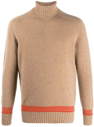 Drumohr fine knit roll neck jumper