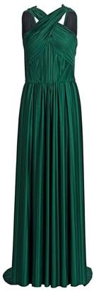 Zac Posen Plisse Jersey Gown