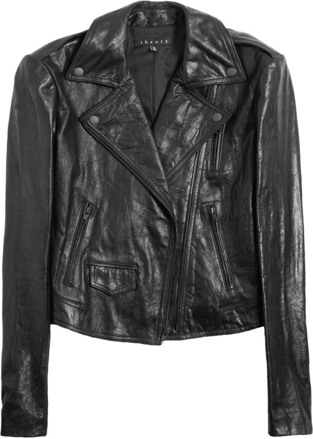 Theory Elenian leather biker jacket