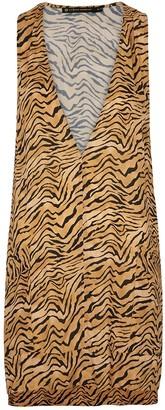 Vix Paula Hermanny V I X Paula Hermanny Cecile Tiger-print Mini Dress