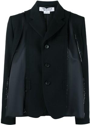 Comme des Garçons Comme des Garçons Long-Sleeved Deconstructed Blazer