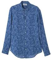 Slim-fit Printed Linen Shirt