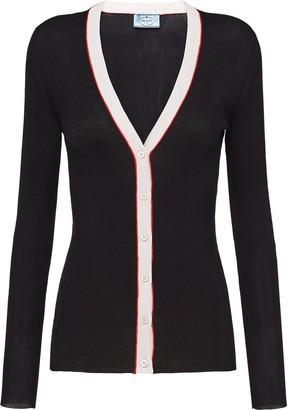 Prada Slim-Fit Knitted Cardigan