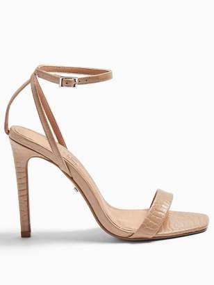 Topshop Saskia High Heel Stiletto Sandals - Nude