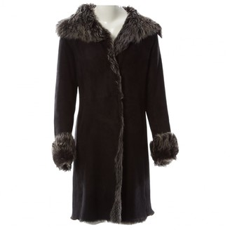 Fury London Black Shearling Coat for Women