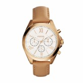 Fossil Women's Modern Courier Quartz Stainless Steel and Leather Chronograph Watch