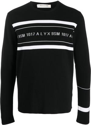 Alyx Contrast-Logo Striped Jumper