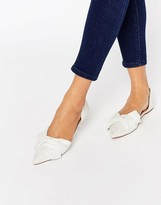 Asos LADY Pointed Bow Ballet Flats