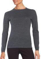 Lord & Taylor Crewneck Merino Wool Sweater