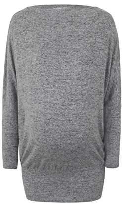 Bellybutton Schwangerschaftsmode Women's 1/1 Arm Long-Sleeved T-Shirt,X-Small