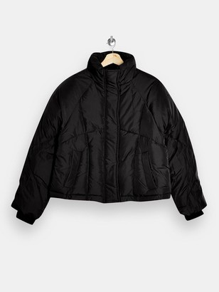 Topshop Lorrcan Padded Jacket - Black