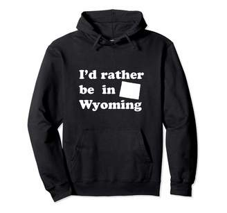 Local Apparel Wyoming And State Gifts Retro Native Wyomingites | Funny Wyoming Pullover Hoodie