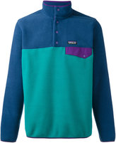 Patagonia contrast roll neck top