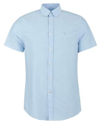 Barbour No 3 Tailored Fit Oxford Shirt Colour: SKY, Size: SMALL