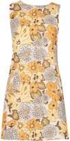 TENKI Floral Sleeveless Two Pocket Shift Dress