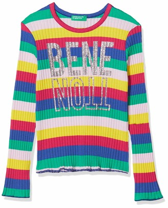 Benetton Girl's T-Shirt M/l Long Sleeve Top