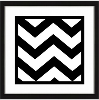 Vintage Print Gallery Black And White Ii Framed Abstract Art