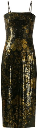 Versace Jeans Couture Metallic Slip Dress