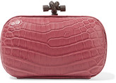 Bottega Veneta The Knot Crocodile Clutch - Pink