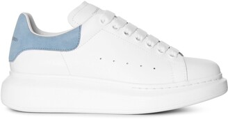 Alexander McQueen White and dream blue classic sneakers