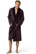 Tommy Hilfiger Fleece Collar Plaid Robe